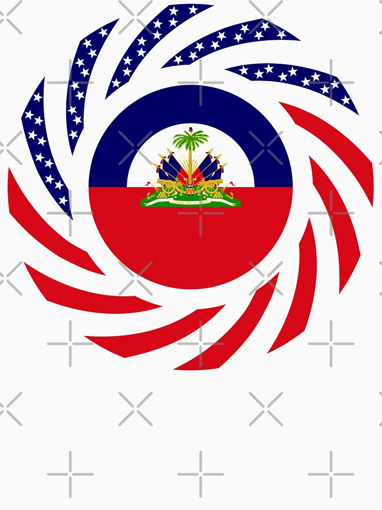 Haitian American Multinational Patriot Flag Series by carbonfibreme