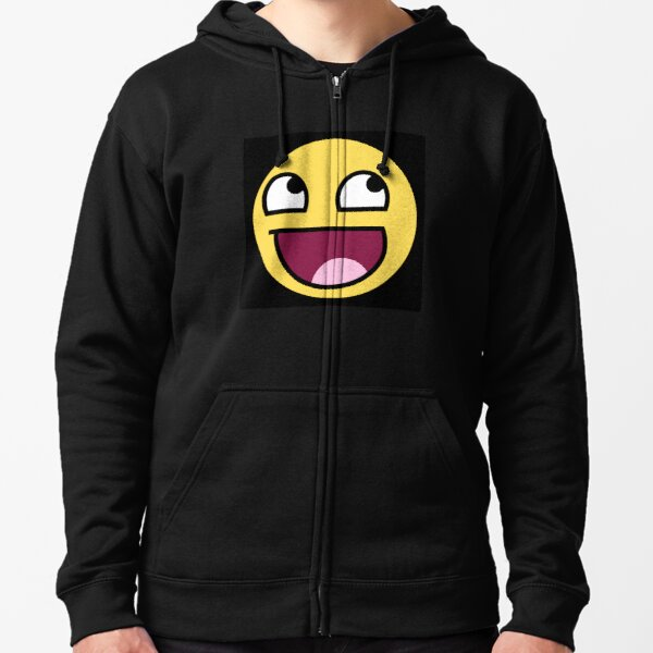 Expression Tees Youth Hood Emoticon Big Smiley Face Large Hot Pink