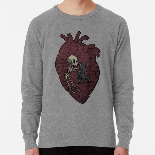 Halloween Skeleton and Cat Friends Lightweight Sweatshirt