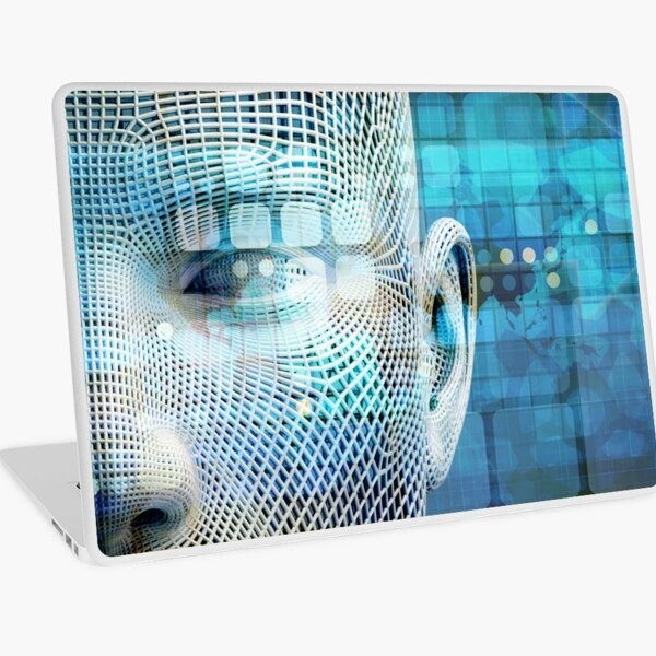 Data Science Machine Learning with Brain Technology Laptop Skin