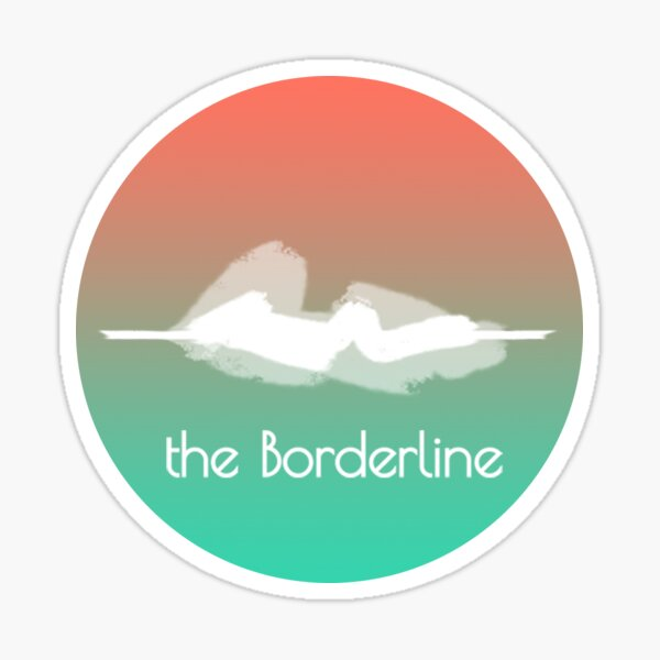 Borderline Logo Sticker