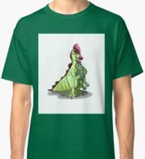Illustration of a female Hadrosaurus holding a doll. Classic T-Shirt
