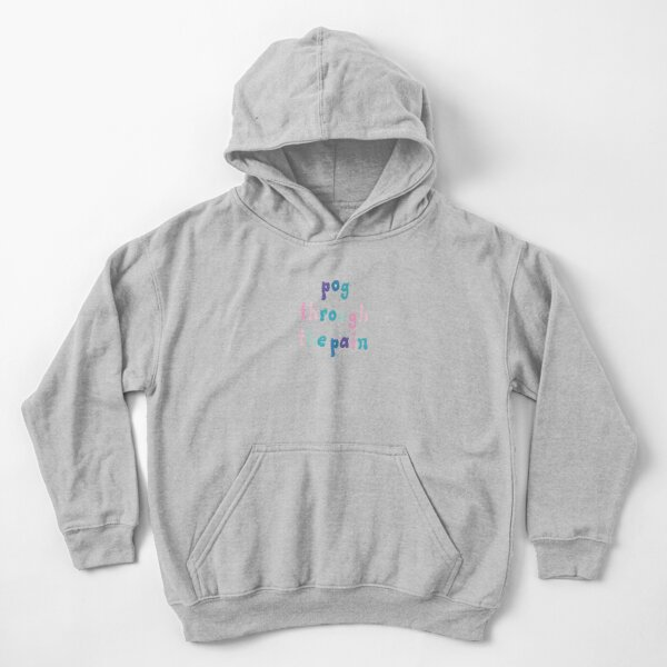tommyinnit : pog through the pain Kids Pullover Hoodie