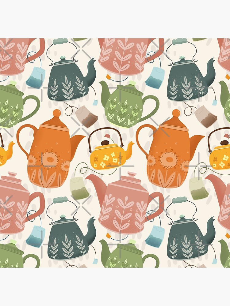 Floral Teapots by KennedyMArt