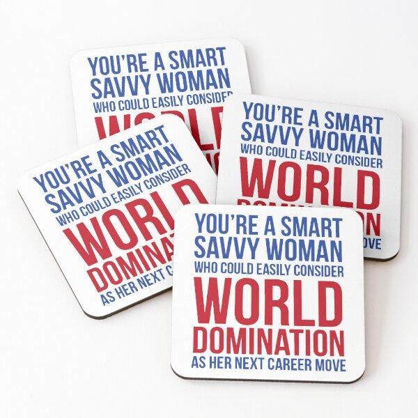 smart savvy woman Coasters (Set of 4)