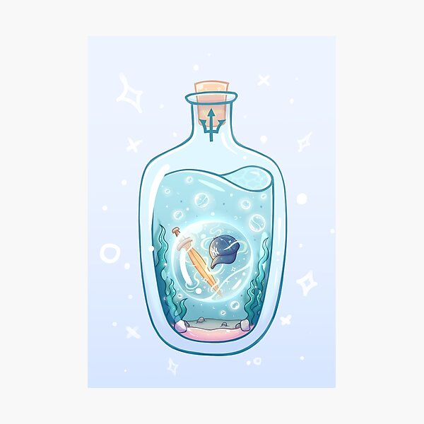 Seaweed Brain and Wise Girl in a Bottle Photographic Print