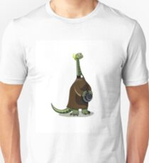 Illustration of a Plateosaurus dressed as a priest. Unisex T-Shirt