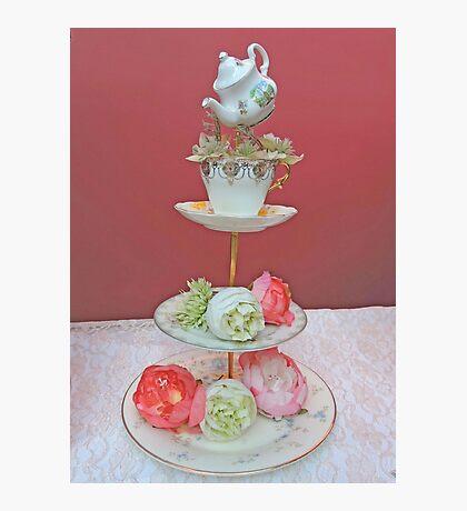 Tea & Peonies  Photographic Print