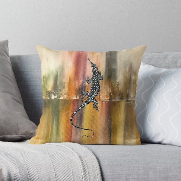 Goanna Design Throw Pillow