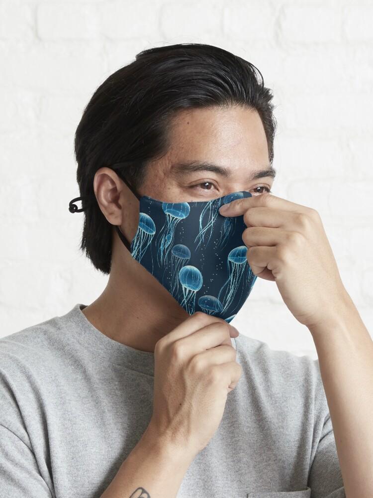 Alternate view of Glowing jellyfish  Mask
