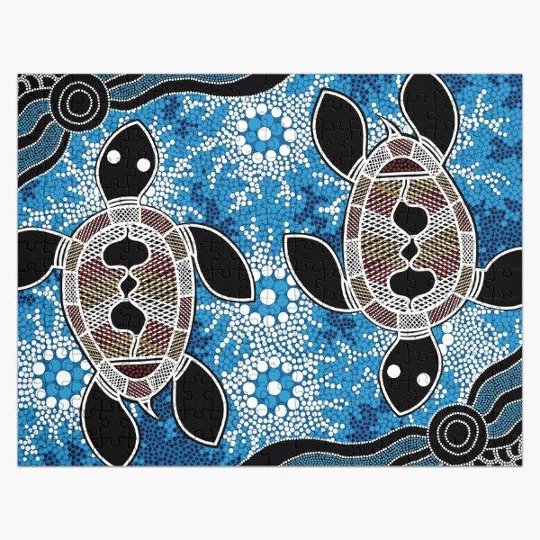 Authentic Aboriginal Art  - Sea Turtles Jigsaw Puzzle