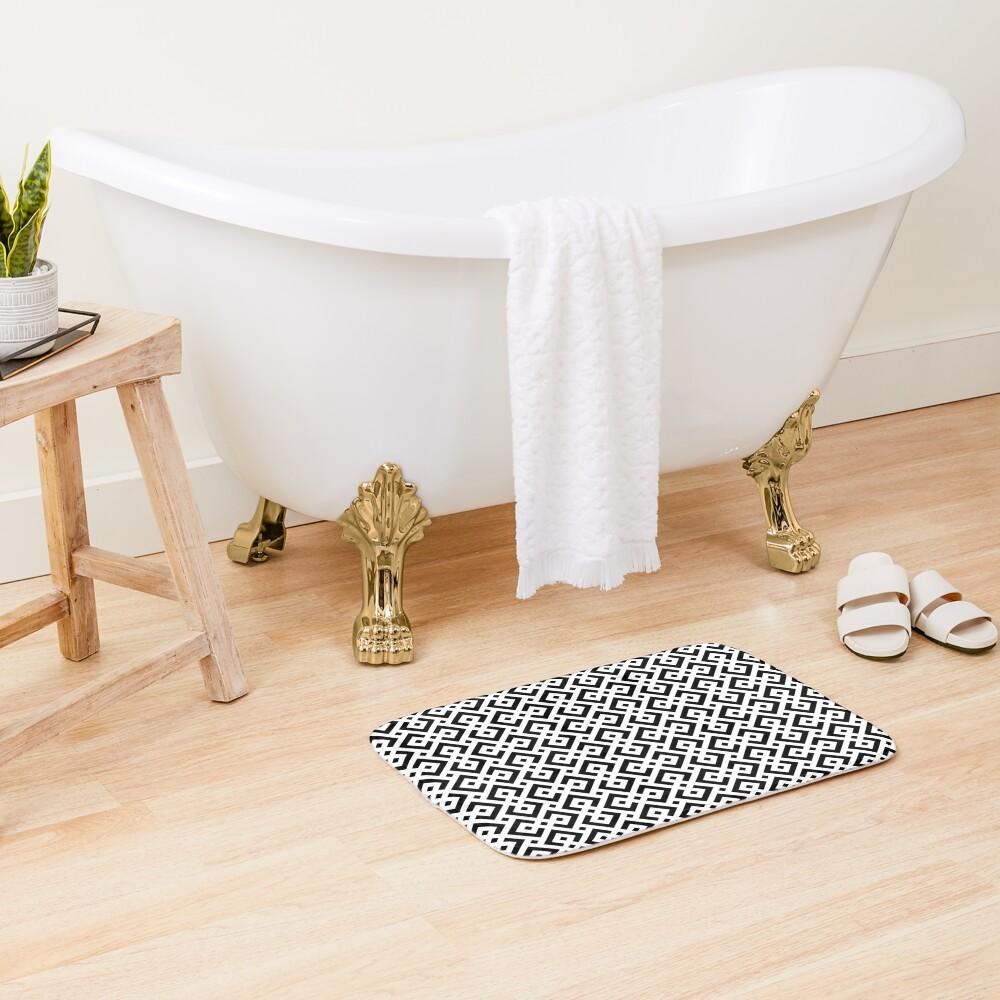 Trendy abstract Bath Mat
