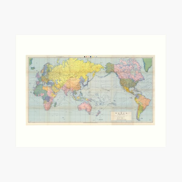 Australia Vintage Map Art Print