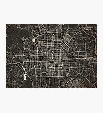 Beijing map ink lines Photographic Print