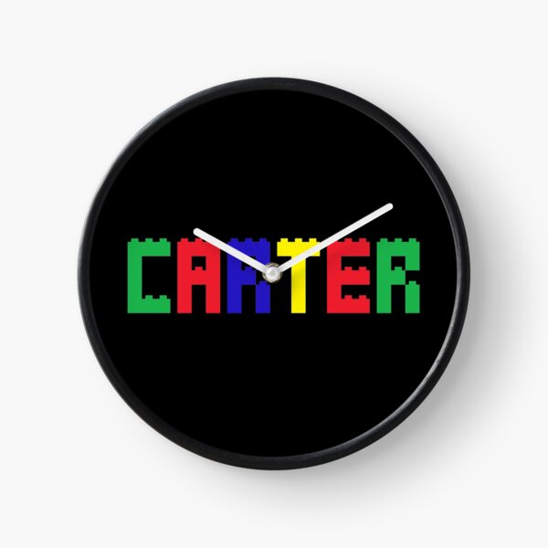 Name Brick Baby Kids for Boys Carter  Clock