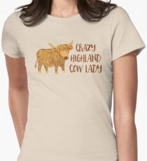 Crazy Highland cow lady T-Shirt