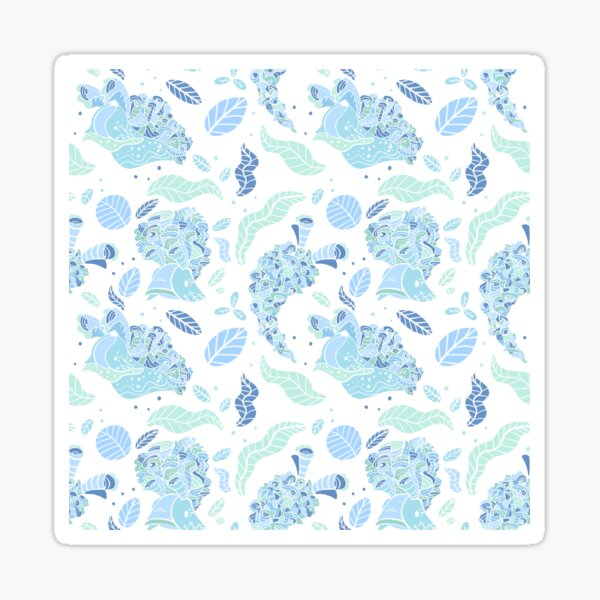 Elysia Crispata Lettuce Sea Slug Pattern - Icy Winter Sticker