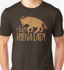 Verrückte Hyäne Lady Unisex T-Shirt