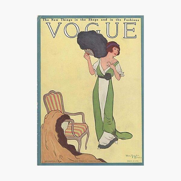 Vintage Vogue Magazine cover - October 1911 Photographic Print