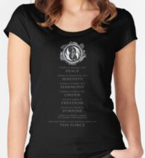 Gray Jedi Gray Lettering  Women's Fitted Scoop T-Shirt