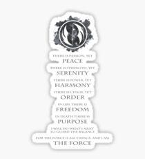 Gray Jedi Gray Lettering  Sticker