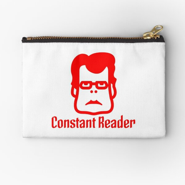 Book - Stephen King Constant Reader (red) Zipper Pouch
