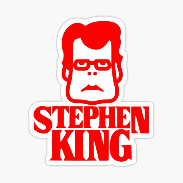 Book - Stephen King (red) Sticker