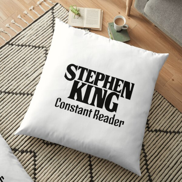 Book - Stephen King Constant Reader (text only) Floor Pillow