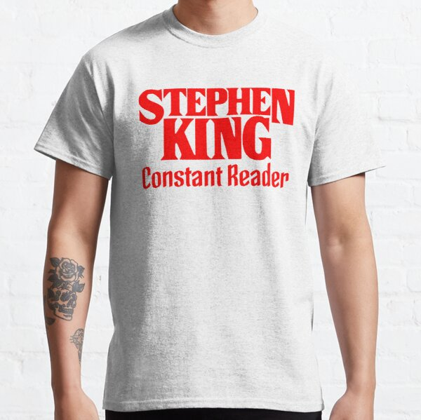 Book - Stephen King Constant Reader (red, text only) Classic T-Shirt