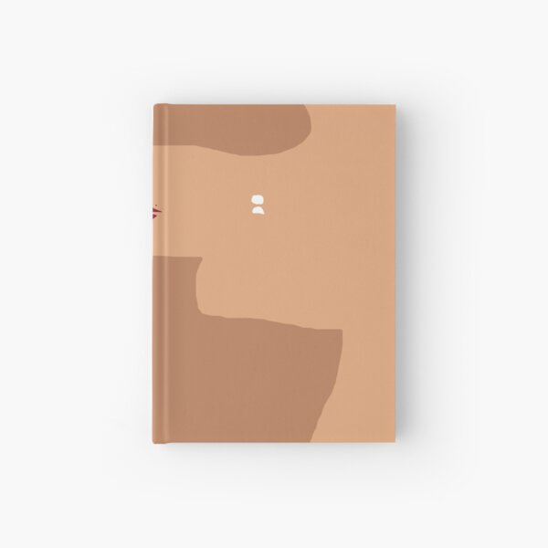 Chic Minimalistic Shape Art in Neutral Colors Hardcover Journal