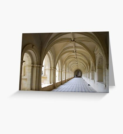 Arcade of abbey of Fontrevaud Greeting Card