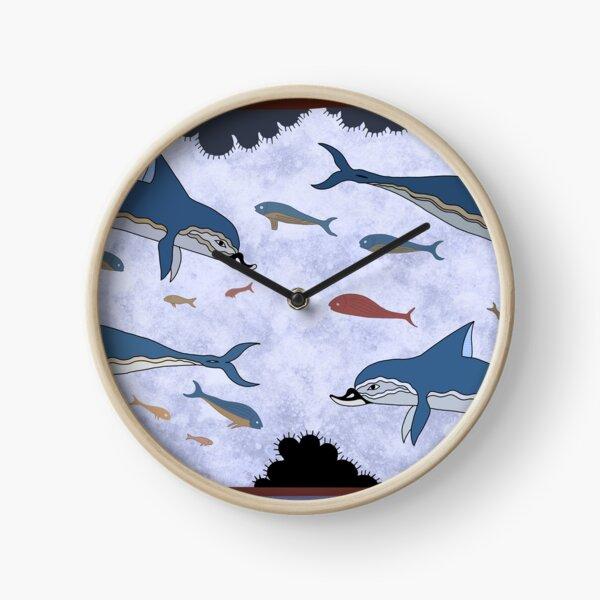 Fresque du dauphin minoen Horloge