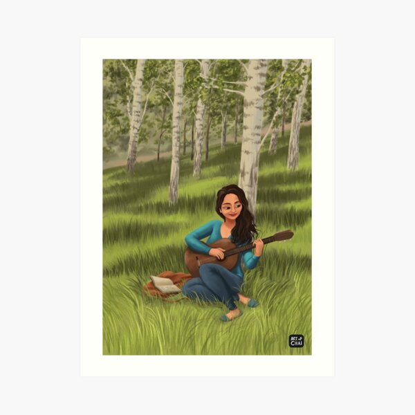 Melody in the Woods  Art Print