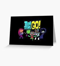 Chibi Titans Go!  Greeting Card