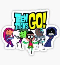 Chibi Titans Go!  Sticker