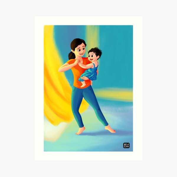 Mother Daughter dance Art Print