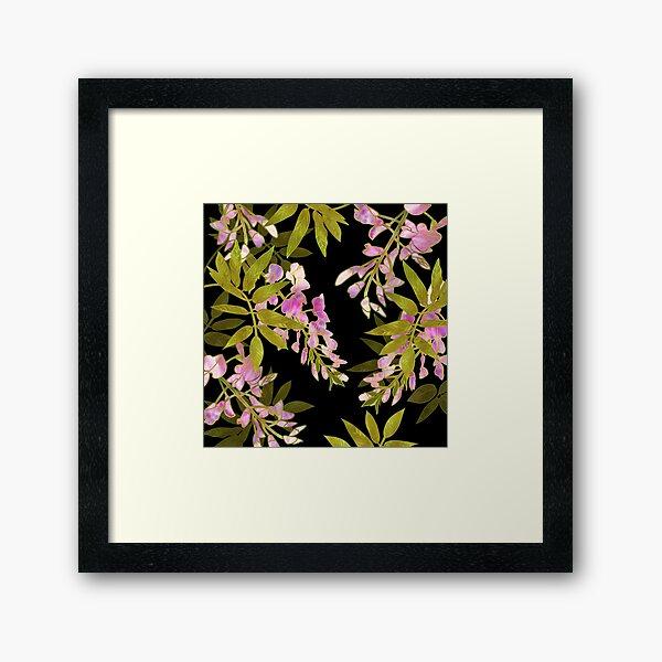 Pink Wisteria Blossom Framed Art Print