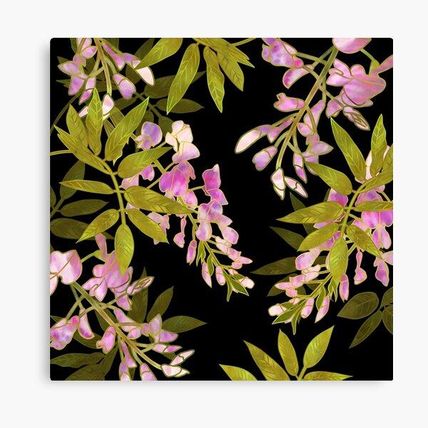 Pink Wisteria Blossom Canvas Print