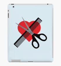 scissors & comb & heart iPad Case/Skin