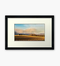 Abandoned farm in the countryside Framed Print