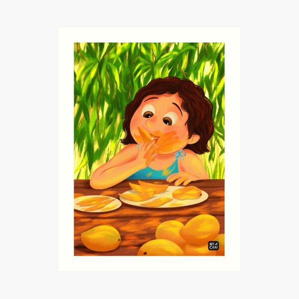 Yum Mangos  Art Print