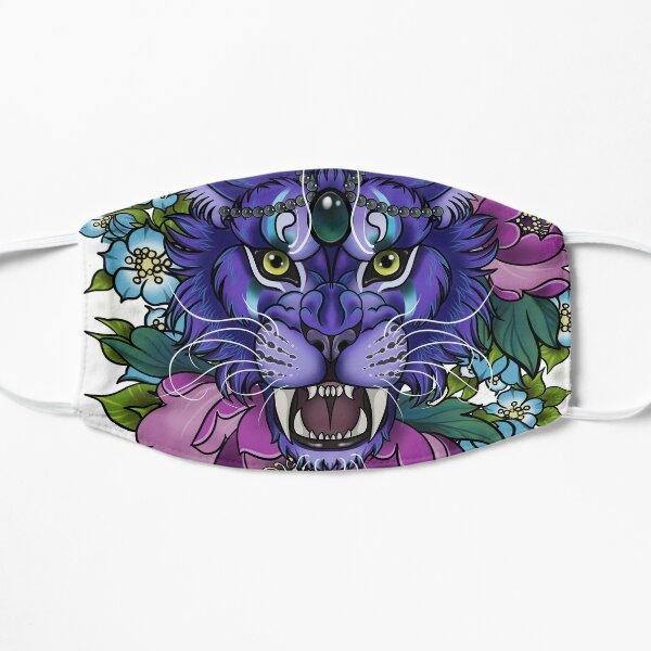 Nachtelfendruid-Katzenporträt mit Blumen Flache Maske