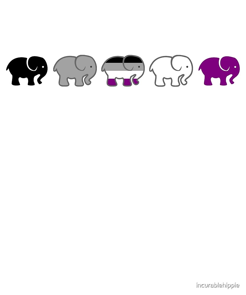 A parade of asexual elephants LGBTQIA by incurablehippie