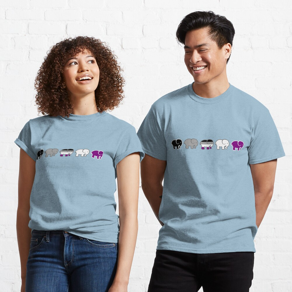 A parade of asexual elephants LGBTQIA Classic T-Shirt