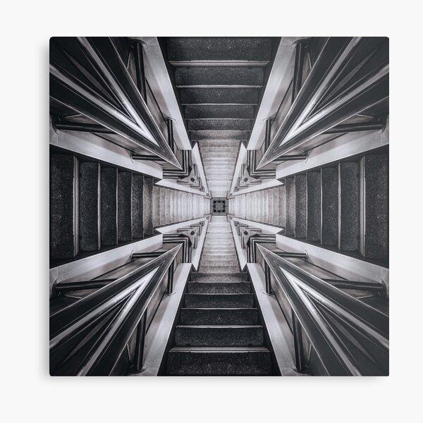 Grunge Steps Structure Metal Print