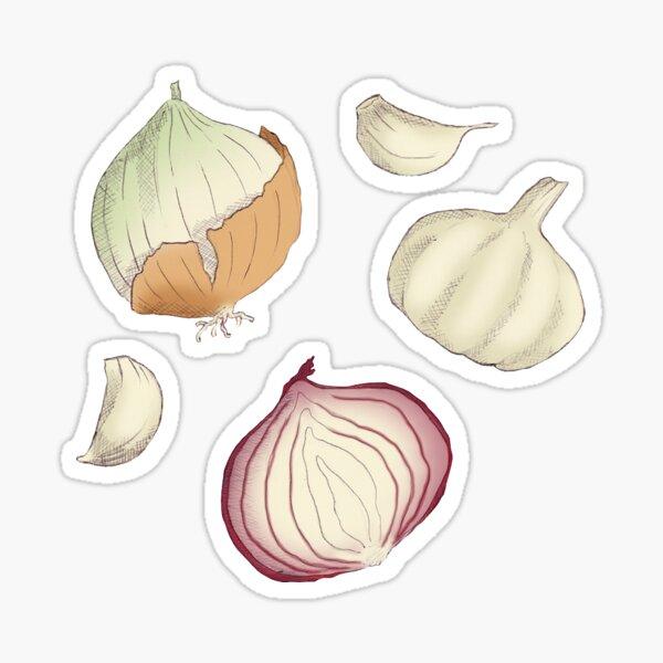Onions and Garlic Sticker