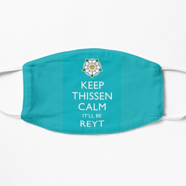 Keep Thissen Calm Yorkshire Blue background Mask