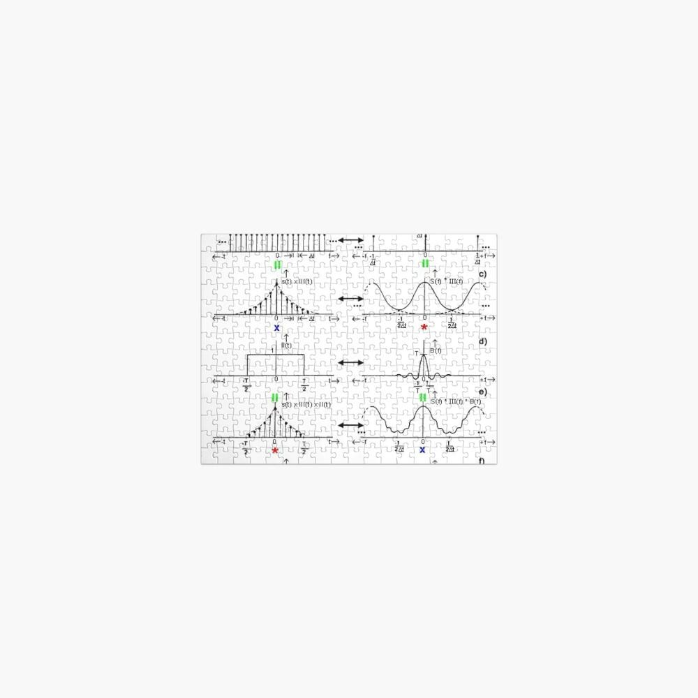 #Discrete #Fourier #Transform. #Diagram, graph, formula, chalk out, illustration, physics, graph plot, symbol, guidance, draft, sketch, science, research, scientific experiment Jigsaw Puzzle