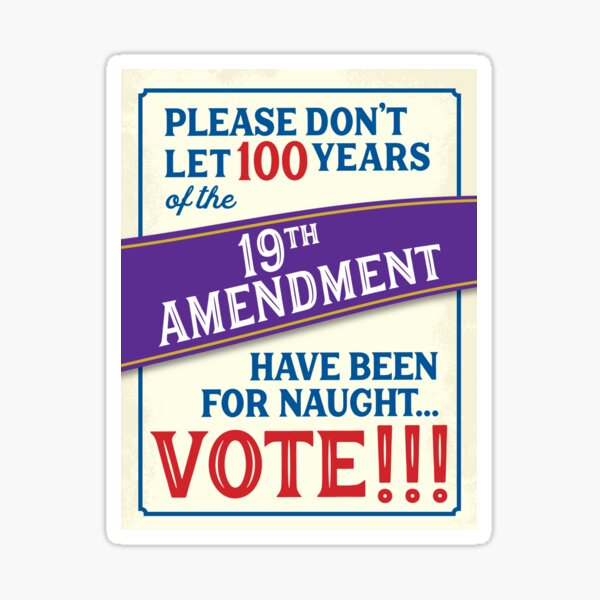19th Amendment Sticker