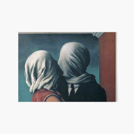 The Lovers by Rene Magritte  Art Board Print